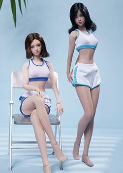TBLeague的新品6分钢骨无缝超可动少女素体,白肌和小麦肤色可选,可配头