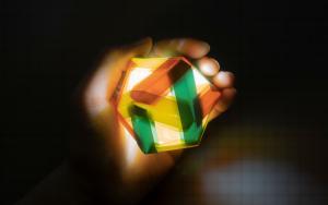 二十面体镂空花球,包教包会的元宵花灯的折纸步骤教程