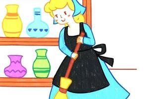童话里的灰姑娘简笔画步骤教程
