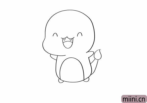 可爱喷火龙简笔画