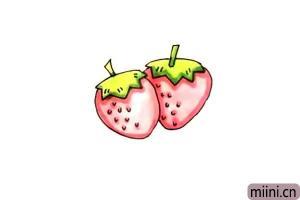 好吃的草莓简笔画步骤教程