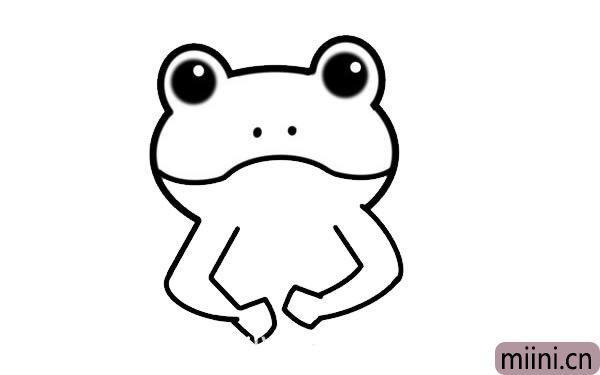 绿色青蛙简笔画
