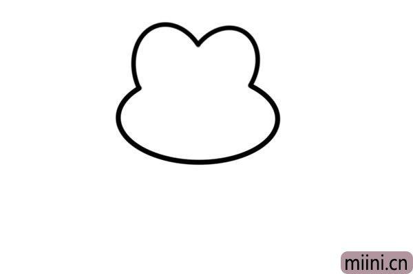 荷叶上的青蛙简笔<a href=http://www.miini.cn/hhds/ target=_blank class=infotextkey>画</a>彩色