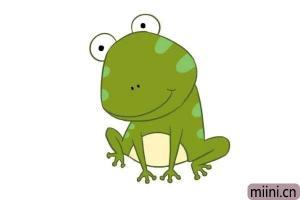 卡通青蛙的简笔画步骤图解教程