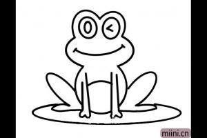 荷叶上的青蛙简笔画步骤教程