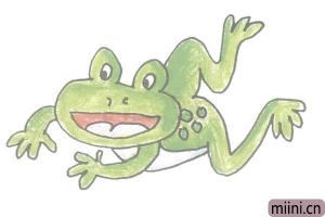 正在捕食的青蛙简笔画步骤教程