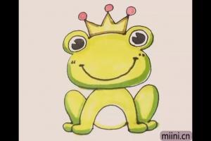 微笑的青蛙王子简笔画步骤教程