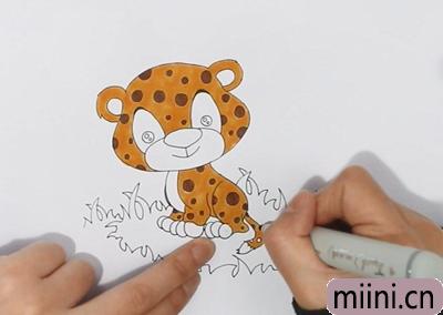 可爱的小豹子