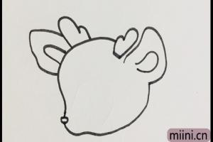可爱的梅花鹿简笔画步骤教程