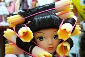 娃娃烫发教程,适合各种娃娃,不会的娃娘快来学习吧。