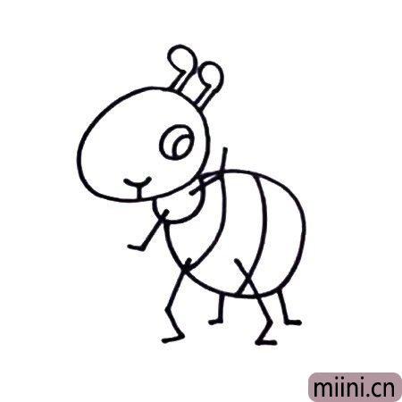 七步画出蚂蚁简笔画
