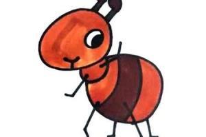 只需要几步就可以画出一只小蚂蚁