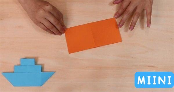 轮船折纸步骤教程