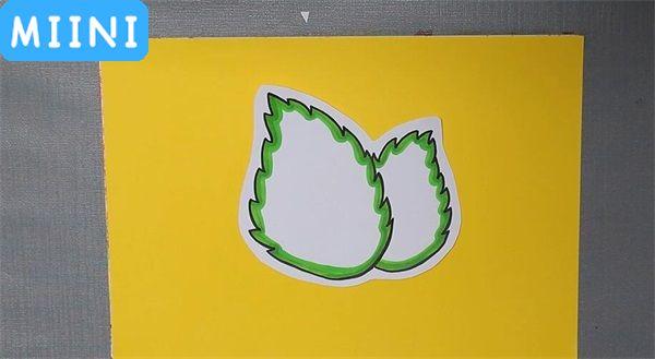 叶子形状的读书卡