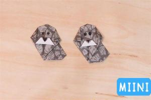 小花狗折纸步骤教程,真的很简单