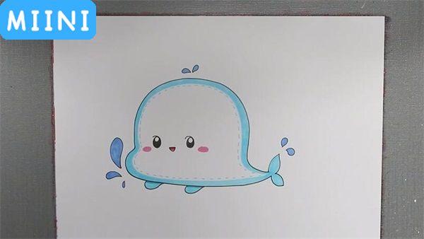 鲸鱼读书卡怎么画