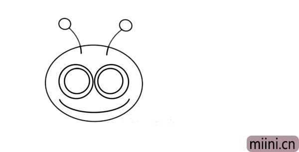 卡通蜗牛简笔画