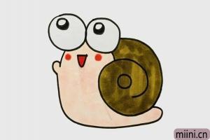 超级可爱的小蜗牛简笔画步骤教程图解