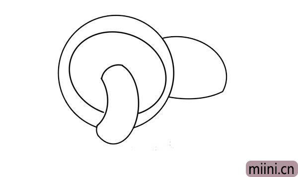 蘑菇简笔画画法