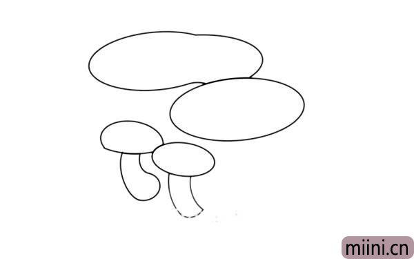 乳牛肝菌简笔画
