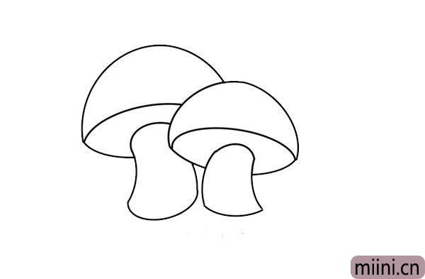 彩色的蘑菇简笔画