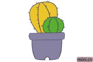 彩色仙人球的简笔画步骤教程图解