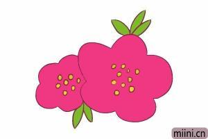 好看的海棠花简笔画步骤教程图解