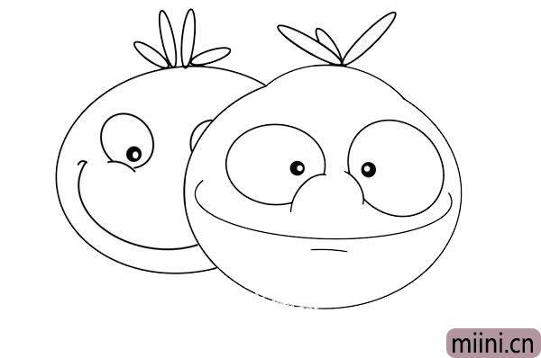 卡通西红柿简笔画