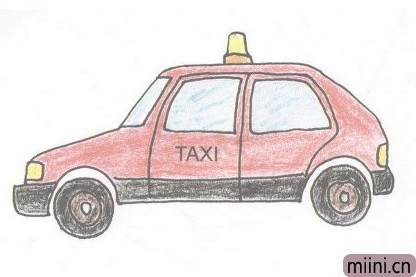 出租车简笔画