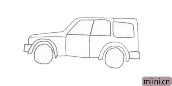越野车suv简笔画