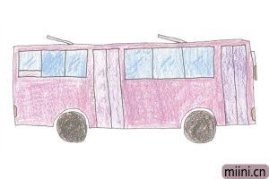 城市的搬运工,公交车简笔画步骤教程
