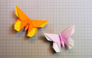 520情人节将至,折上两只蝴蝶,还挺浪漫的嘛-折纸教程