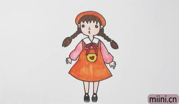 麻花辫小女孩怎么画简单又漂亮