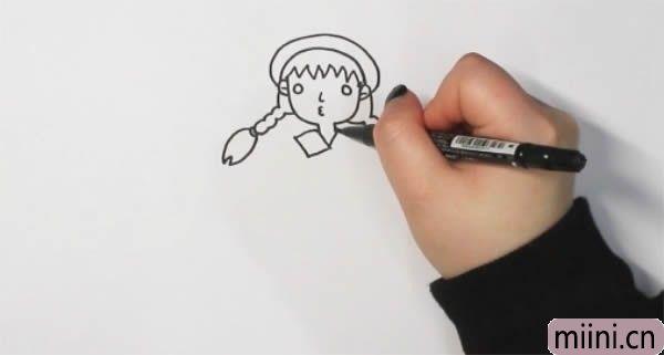 麻花辫小女孩怎么<a href=http://www.miini.cn/hhds/ target=_blank class=infotextkey>画</a>简单又漂亮