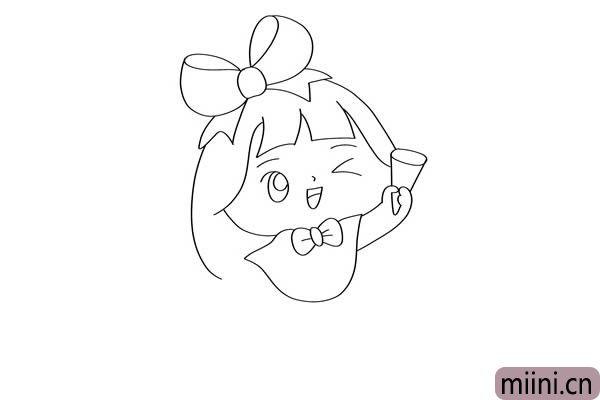 可爱小女孩怎么画简笔画