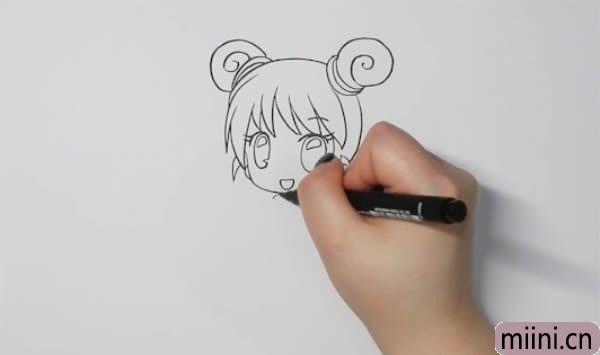 少女动漫人物怎么<a href=http://www.miini.cn/hhds/ target=_blank class=infotextkey>画</a>简笔画