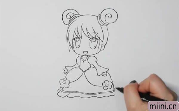 少女动漫人物怎么画简笔画
