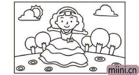 穿裙子的小女孩简笔<a href=http://www.miini.cn/hhds/ target=_blank class=infotextkey>画</a>